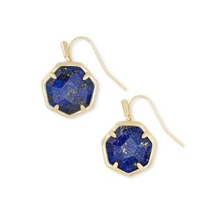 Kendra Scott Cynthia Gold Earrings in Blue Lapis!!
